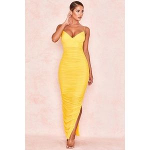 House of Cb, Belle Nuit Yeloow Maxi Dress